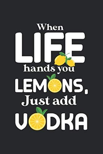 Just add: Russischer Wodka Trinker Barkeeper Zitronen Alkohol Liebhaber Notizbuch DIN A5 120 Seiten für Notizen, Zeichnungen, Formeln | Organizer Schreibheft Planer Tagebuch