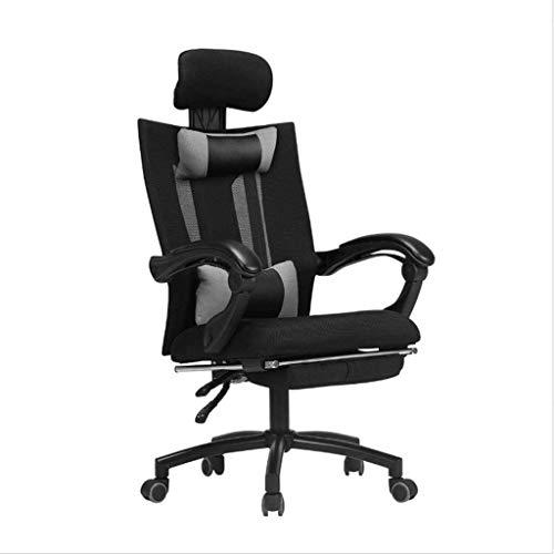 GSN Bürostuhl, High Back Großer Sitz und Kippfunktion Vorstand Swivel Reclining Computer-Schreibtisch-Stuhl Breathable Ineinander greifen Sessel (Size : Upgraded Version)