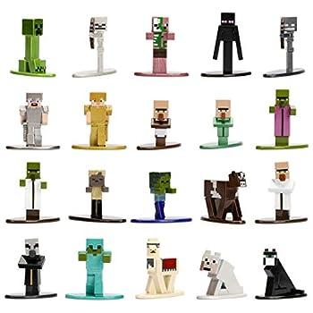 Jada Toys Minecraft 20-Pack Wave 1 Nano METALFIGS 1.65 Die - Cast Figures Multicolor 30125