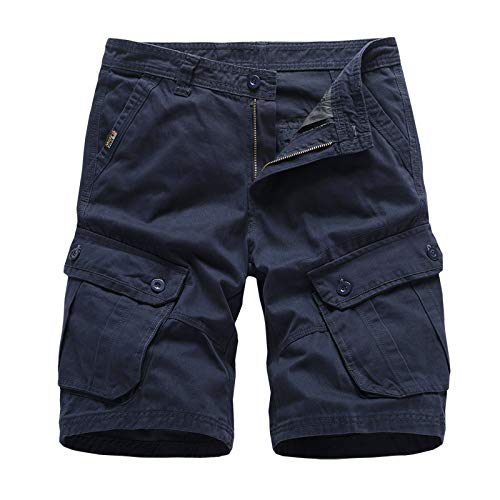 zihui Zomer Heren Gereedschap Tide Merk Shorts Jeugd Losse mannen Five-Point Broek Multi-Pocket Casual Broek Shorts
