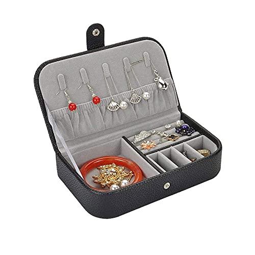 Joyery Box Organizer PU Organizador de Cuero Pequeño Travel Tinket Boxes Caja de Almacenamiento de joyería portátil para Anillos Collar Pulseras Mujeres Niños 19 * 11 * 4.4 cm TINGG