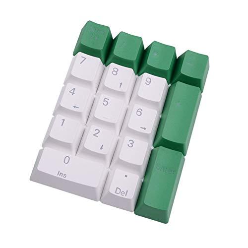 KeyCaps Tappi PBT retroilluminato Copritasti con apertura Cherry MX chiave for 104 108 retroilluminata gioco Tastiera meccanica numerico Keyset .per computer, casa, ufficio (Color : Silver)