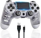 【Large compatibilité】 Compatible avec la console PS4 et PC. Si vous souhaitez connecter votre contrôleur à l'ordinateur, vous devez utiliser un câble micro-port pour vous connecter, ou l'acheteur dispose d'un récepteur Bluetooth, vous pouvez utiliser...