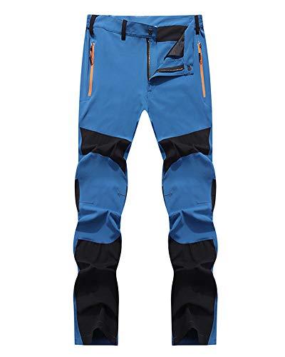 YonglanA Pantaloni All'aperto Uomo Leggera Elasticità Asciugatura Rapida Arrampicata Trekking Pantaloni Blu Nero 2XL
