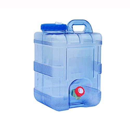 Campinggeschirr-Wasserkanister Quadratischer Wassertank für den Außenbereich mit Wasserhahn aus Kunststoff an Bord 10L15L20L (Color : Blue, Size : 20litres)