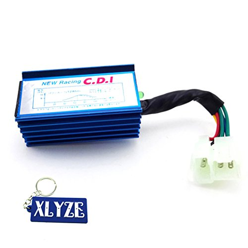 xlyze 6 Pin Ignition AC CDI Box pour chinois 50 cc 90 cc 110 cc 125 cc 150 cc 200 cc 250 cc ATV Quad Pit Dirt Bikes roketa Kazuma Sunl bleu