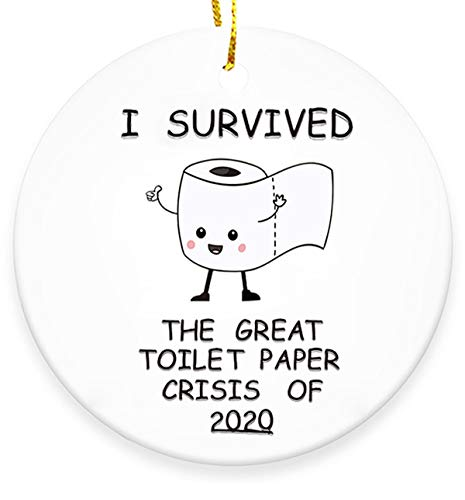 Life Girl Star 2020 Christmas Tree Ornaments,I Survived The Great Toilet Paper Crisis Christmas Decor-Funny Xmas Tree Hanging Decoration for Holiday Christmas Family & Friends Gift