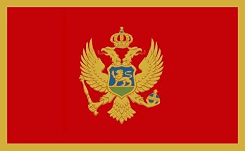U24 Fahne Flagge Montenegro Bootsflagge Premiumqualität 20 x 30 cm