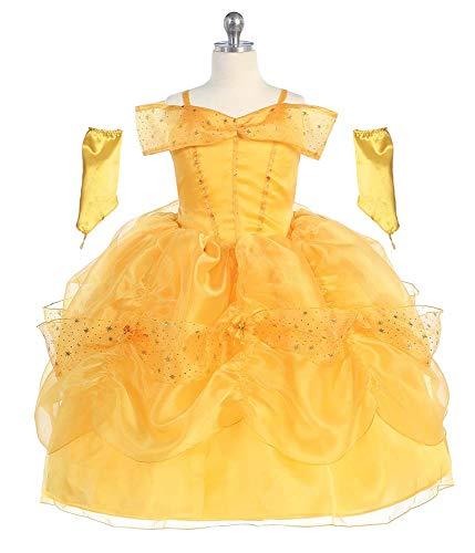 Bijan Kids 011 Princess Belle Dress (8) Yellow