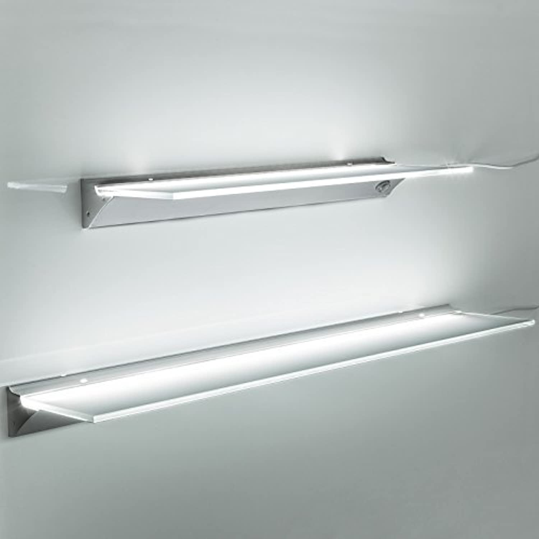 SO-TECH LED Leuchtregal SARA Leuchtfarbe neutral wei (4000K) Lichtboard Glasregal 1200 mm