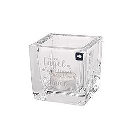 LEONARDO Tischlicht Cube mit persönlicher Gravur - Einen Engel ohne Flügel nennt Man - mit Wunschnamen
