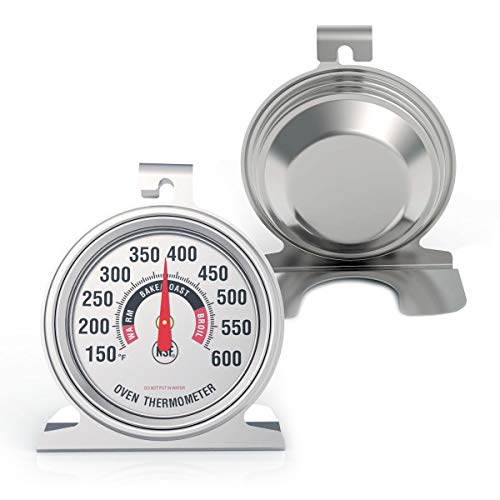 "Efeng Large 3"" Dial Oven Thermometer for Gas Oven - NSF-approved accurately easy-to-read extra large clearly display shows marked temperatures for Professional and Home Kitchens Cooking (1)"