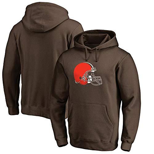 Felpa Sportiva NFL Football Cleveland Browns Rugby Ball Fans Casual Felpe Confortevoli Brown-M