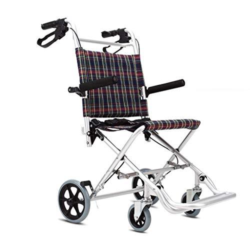 Gcxzb 4 Rueda rodante Walker con Asiento y Almacenamiento Bolsa - Ayudas a la Movilidad Edad, Tercera, Ancianos y Personas discapacitadas - Silla de Transporte de Aluminio