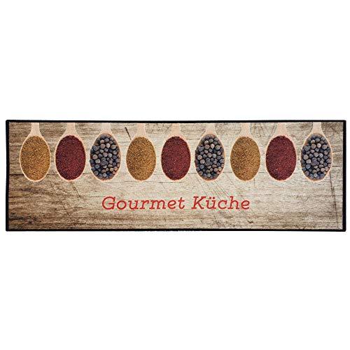 Teppich Boss Küchenläufer Gourmet Küche beige waschbar & rutschfest, 50x150 cm