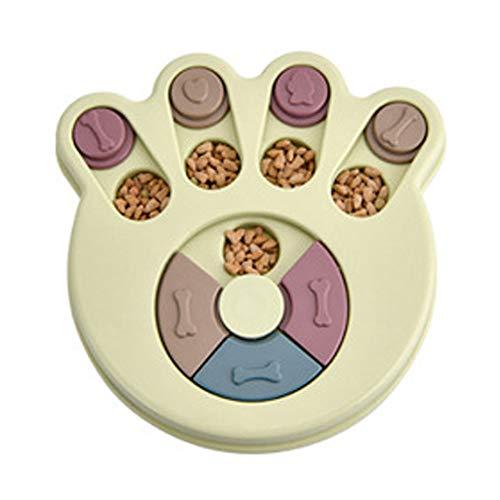 Sansund Leckerli-Spender für Hundefutter, Puzzle-Spielzeug, Training, Futterspender, interaktives Futternapf, grün, Footprint