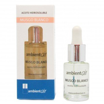 Ambientair. Aceite perfumado hidrosoluble 15ml. Aceite hidrosoluble Musgo Blanco, para humidificador de ultrasonidos. Perfume de Musgo Blanco para ambientador de Vapor de Agua.