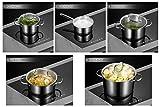 Deik juego de ollas, olla acero inoxidable, batería de cocina, utensilios de cocina, cuatro ollas de acero inoxidable con tapas de vidrio templado y un olla de acero inoxidable con mango - 8