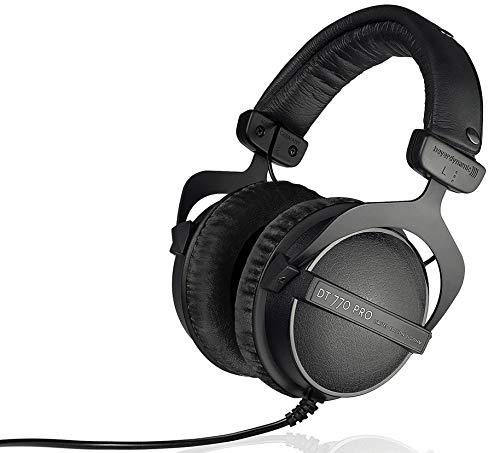 Beyerdynamic DT 770 Pro 250 ohm Professional Studio Headphones (Limited Black Edition) (Renewed)