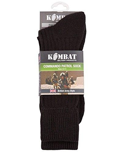 Kombat Commando Cadet Patrol Socks Olive Green 6-11 by Kombat