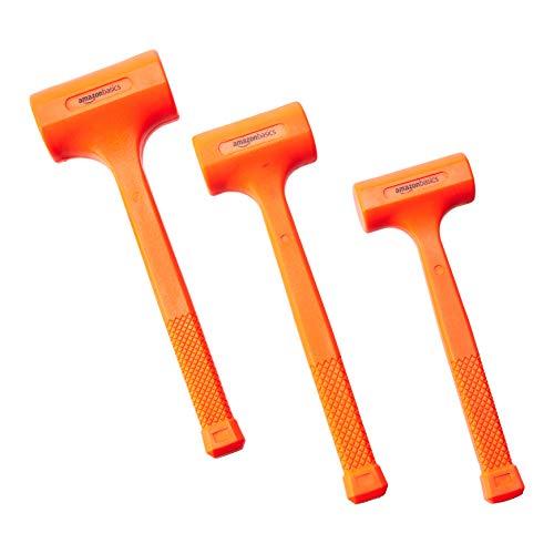 Amazon Basics Dead Blow Hammer Set - 3-piece (1.35, 2, and 3 lbs.)