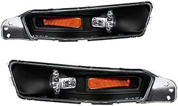 Carpartsinnovate For Ford 05-09 Mustang Replacement Turn Signal Front Bumper Lights Lamps Black Pair