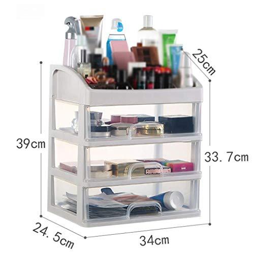 BOX Simple Multi-Couche Cosmétique Boîte de Rangement En Plastique Transparent Type de Tiroir Lipstick Bijoux Soins de La Peau Produits de Stockage D'Affichage Boîte (Taille: 34 × 24,5 × 39Cm),34 * 2