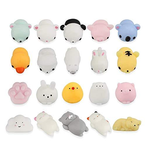 20 PC-Nette Karikatur-Tier-Spielzeug Langsam Rebound-Druck-Helfer Spielzeug Langsam Rising Mini Squeeze Spielzeug Für Kinder Und Erwachsene