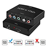 HDMI to Component Converter Adapter, avedio links HDMI to YPbPr 5RCA Converter, Supports 1080P Video Audio Converter Adapter for DVD PSP Xbox 360 PS2 to HDTV Monitor