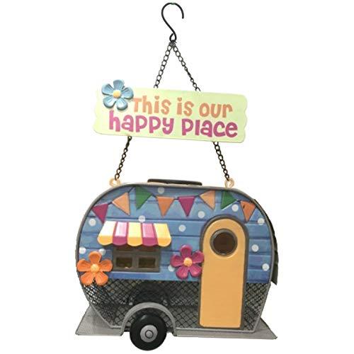 Primus Funky Metall Caravan Futterstelle für Vögel Dieses Ist Unsere Happy Anstelle Groß Wandbehang Vogelhaus