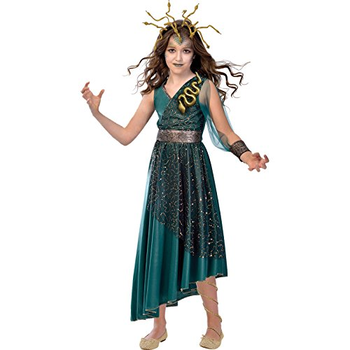 amscan kindermaat Medusa Girl kostuum