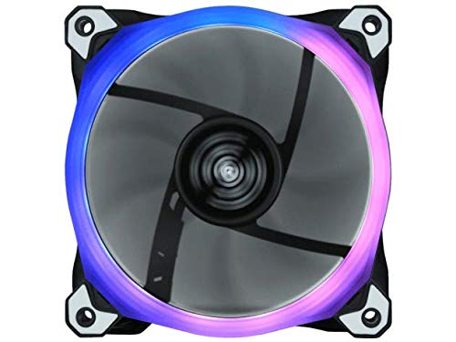 Raidmax 120 mm Customizable Addressable RGB LED Case Fan, ASUS Aura Sync and MSI Mystic Light Sync Compatible (1 Pack)