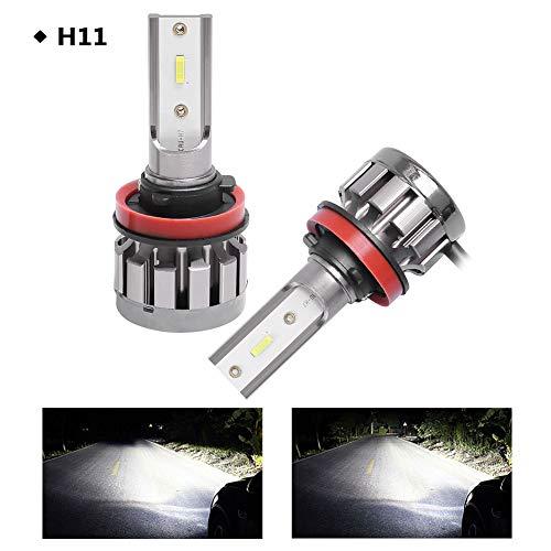 LED-koplampen, 2 stuks, 2.000 lm, helderheid 6000 K, kleur IP68 waterdicht, levensduur tot 30.000 uur.