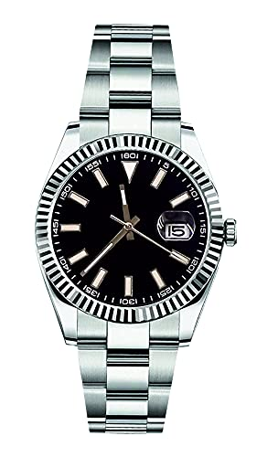 PARNIS by Collectors Club TW1008 Automatikuhr 316L-Edelstahl Armbanduhr Datumsanzeige Saphirglas 5BAR Wasserdicht