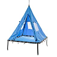 HearthSong Hanging Sky Tent Swing, Base: 6'H x 5' sq., Holds up to 500 lbs.