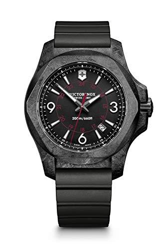 Victorinox Herren Digital Quarz Uhr mit Gummi Armband 241777