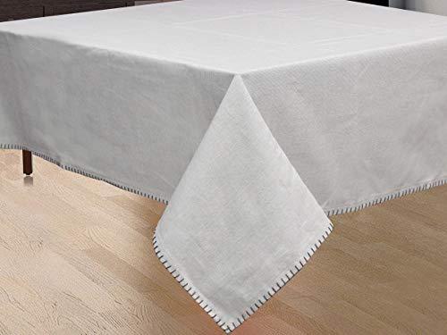 NORA HOME Mantel Smooth 100% algodón hasta 3 Metros (Gris, 150x200cm)