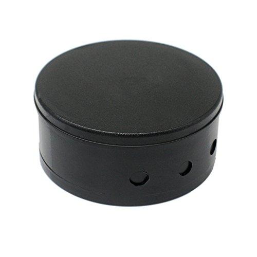 Verteilerdose Schwarz Kunststoff mit Zubehör ø 70x31mm Verteilerbaldachin Aufputzdose Anschlussdose