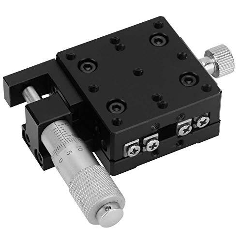 X Axises Handmatige lineaire trap, 40x40 mm Micrometer Handmatige fijnafstemming Kruisen Roller Precisie Lineaire trappen Trimmen Lager Tuning Platform Schuiftafel