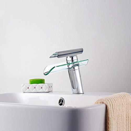 SAILUN Wasserfall Armatur Wasserhahn Glas Spüle Waschbeckenarmatur für Bad Waschtischarmatur Badarmatur Badezimmer Küchen (B Type) - 6