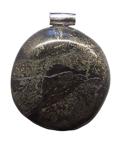 KRIO®- schöner großer Pyrit Anhänger mit Silberöse