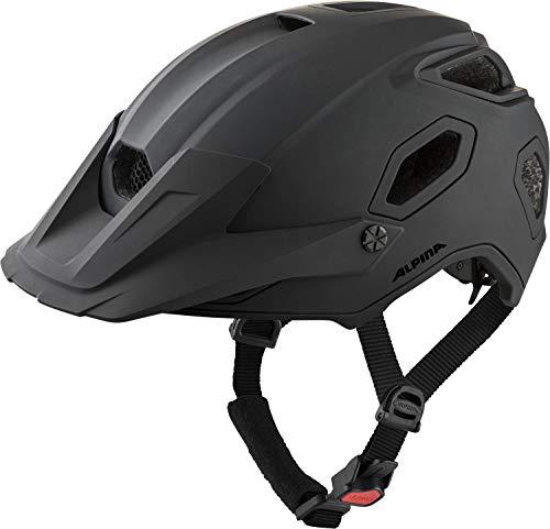 ALPINA Unisex - Erwachsene, COMOX Fahrradhelm, black matt, 57-62 cm