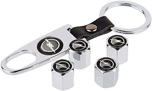 Neumático Automóvil Válvula Tapones Tapas para Opel Insignia Astra H J Corsa Mokka Zafira Vectra Meriva Combo Aglia Maloo All Models, Polvo con Logo Antirrobo Decoración Accesorios