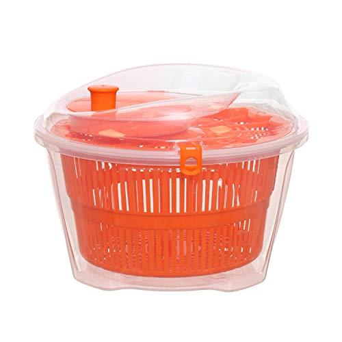 Scola insalata in plastica Arancione Trasparente