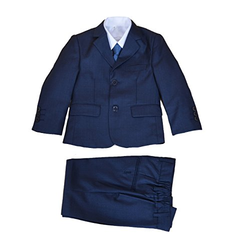 Cinda 5 Stück Blau Boy Anzüge Hochzeit Anzug Junge Seite Partei-Abschlussball -Klagen Blau 92-98