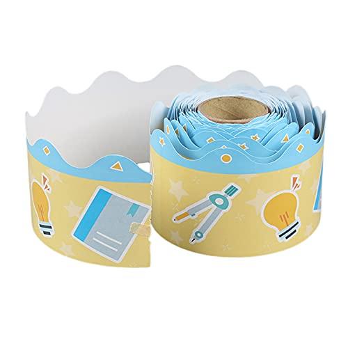 MagiDeal Washi Tape Cinta adhesiva de borde de pizarra de 7,5 cm de ancho, material escolar, cinta decorativa, cinta adhesiva para artículos de decoración de