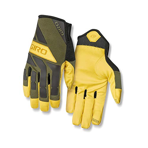 Giro Trail Builder Men's Mountain Cycling Gloves - Olive/Buckskin (2021), Medium