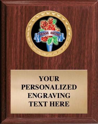 Team Mom Plaques Make A Great Award & Trophy. You