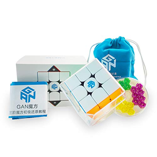 GAN 356 M, 3x3 Magnetic Speed Cube Gans 356M Magic Cube with Extra GES, Stickerless (ver. 2020)