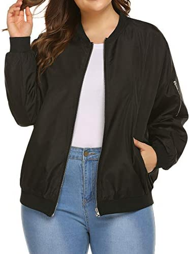IN VOLAND Womens Jacket Plus Size Bomber Jackets Lightweight with Pockets Zip Up Quilted Casual product image